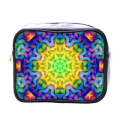 Psychedelic Abstract Mini Travel Toiletry Bag (one Side)
