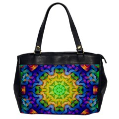 Psychedelic Abstract Oversize Office Handbag (one Side)