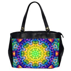 Psychedelic Abstract Oversize Office Handbag (two Sides)
