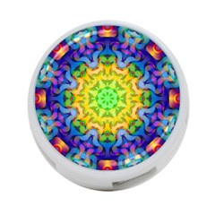 Psychedelic Abstract 4-Port USB Hub (One Side)