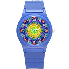 Psychedelic Abstract Plastic Sport Watch (Small)