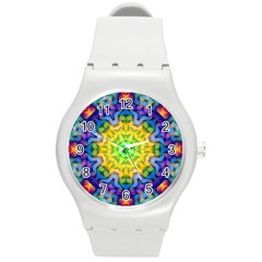 Psychedelic Abstract Plastic Sport Watch (Medium)