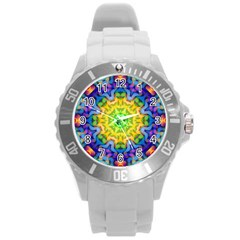Psychedelic Abstract Plastic Sport Watch (Large)