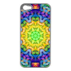 Psychedelic Abstract Apple Iphone 5 Case (silver)