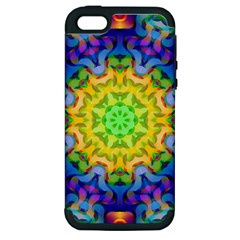 Psychedelic Abstract Apple Iphone 5 Hardshell Case (pc+silicone)