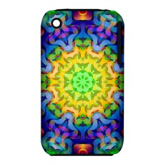 Psychedelic Abstract Apple Iphone 3g/3gs Hardshell Case (pc+silicone)
