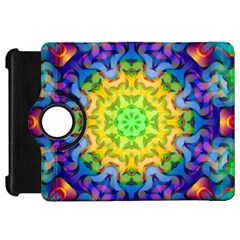 Psychedelic Abstract Kindle Fire HD 7  (1st Gen) Flip 360 Case