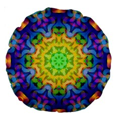 Psychedelic Abstract 18  Premium Round Cushion