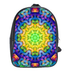 Psychedelic Abstract School Bag (XL)