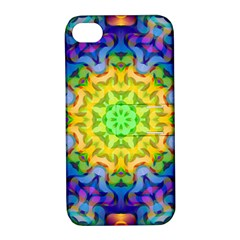 Psychedelic Abstract Apple Iphone 4/4s Hardshell Case With Stand