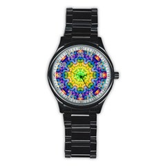Psychedelic Abstract Sport Metal Watch (Black)