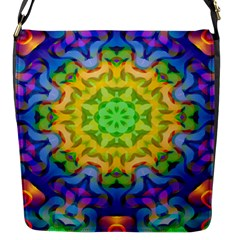Psychedelic Abstract Flap Closure Messenger Bag (Small)