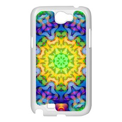 Psychedelic Abstract Samsung Galaxy Note 2 Case (White)