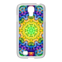Psychedelic Abstract Samsung GALAXY S4 I9500/ I9505 Case (White)