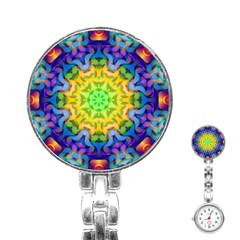 Psychedelic Abstract Stainless Steel Nurses Watch