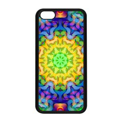 Psychedelic Abstract Apple iPhone 5C Seamless Case (Black)