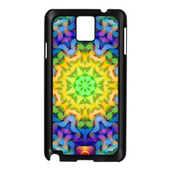 Psychedelic Abstract Samsung Galaxy Note 3 N9005 Case (Black)