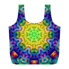 Psychedelic Abstract Reusable Bag (L)