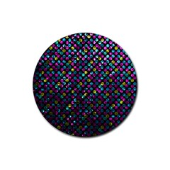 Polka Dot Sparkley Jewels 2 Drink Coasters 4 Pack (Round)