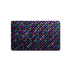 Polka Dot Sparkley Jewels 2 Magnet (Name Card)