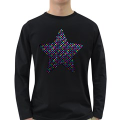 Polka Dot Sparkley Jewels 2 Men s Long Sleeve T-shirt (Dark Colored)