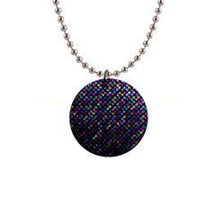 Polka Dot Sparkley Jewels 2 Button Necklace