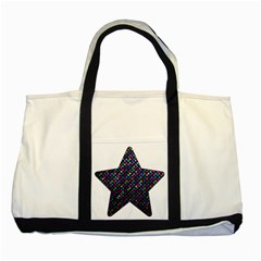 Polka Dot Sparkley Jewels 2 Two Toned Tote Bag