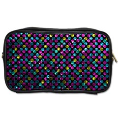 Polka Dot Sparkley Jewels 2 Travel Toiletry Bag (Two Sides)