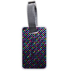 Polka Dot Sparkley Jewels 2 Luggage Tag (two Sides)