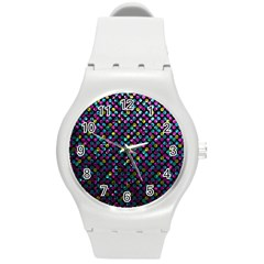 Polka Dot Sparkley Jewels 2 Plastic Sport Watch (medium)