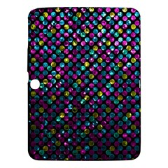 Polka Dot Sparkley Jewels 2 Samsung Galaxy Tab 3 (10 1 ) P5200 Hardshell Case