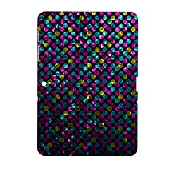 Polka Dot Sparkley Jewels 2 Samsung Galaxy Tab 2 (10 1 ) P5100 Hardshell Case