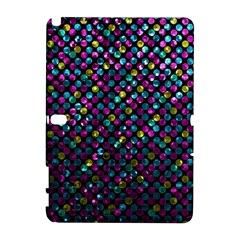 Polka Dot Sparkley Jewels 2 Samsung Galaxy Note 10 1 (p600) Hardshell Case