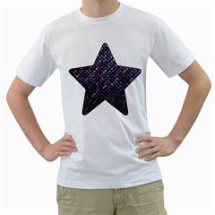 Polka Dot Sparkley Jewels 2 Men s T-Shirt (White)