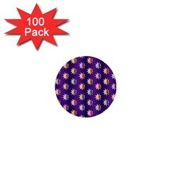 Flare Polka Dots 1  Mini Button (100 Pack)