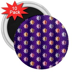 Flare Polka Dots 3  Button Magnet (10 pack)
