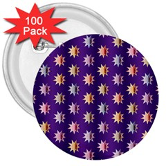 Flare Polka Dots 3  Button (100 pack)