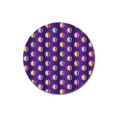 Flare Polka Dots Magnet 3  (Round)