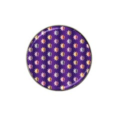 Flare Polka Dots Golf Ball Marker 4 Pack (for Hat Clip)