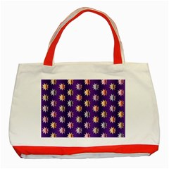 Flare Polka Dots Classic Tote Bag (red)