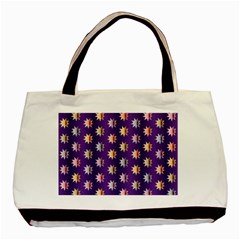 Flare Polka Dots Twin-sided Black Tote Bag