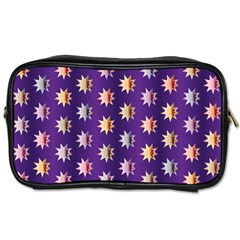 Flare Polka Dots Travel Toiletry Bag (two Sides)