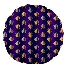 Flare Polka Dots 18  Premium Round Cushion