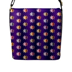 Flare Polka Dots Flap Closure Messenger Bag (Large)
