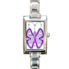 Cute Awareness Butterfly Rectangular Italian Charm Watch