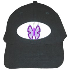 Cute Awareness Butterfly Black Baseball Cap