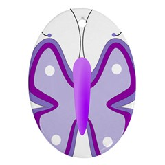 Cute Awareness Butterfly Oval Ornament