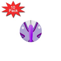 Cute Awareness Butterfly 1  Mini Button (10 pack)