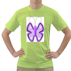 Cute Awareness Butterfly Men s T Shirt (green)