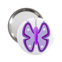Cute Awareness Butterfly Handbag Mirror (2.25 )
